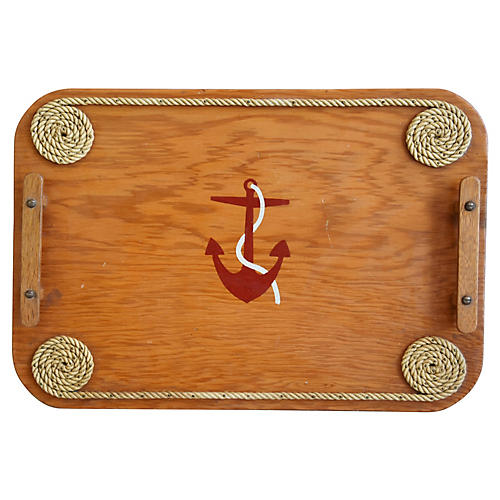 Seaside Nautical Themed Serving Tray