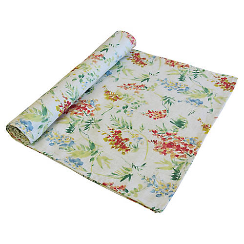 English Cottage Floral Table Runner