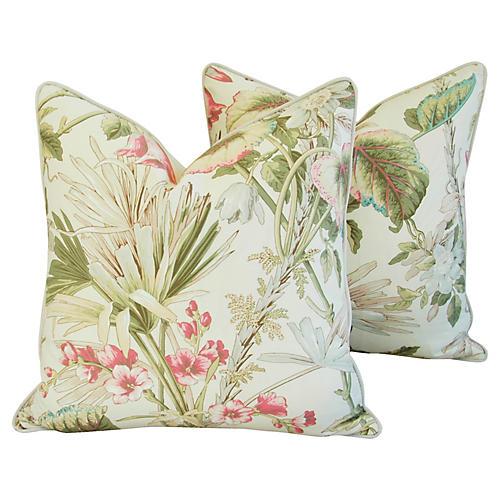Scalamandré Lowland Floral Pillows, Pr