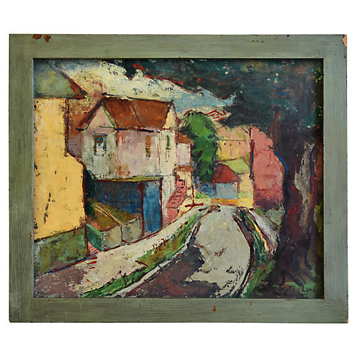 Gertrude Lord City Abstract Oil Painting