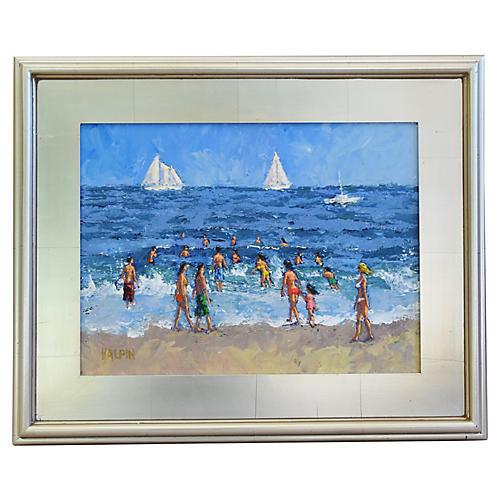 Summer Beach w/ Sailboats by Tim Halpin