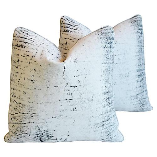 Distressed Eldeman Leather Pillows, Pr
