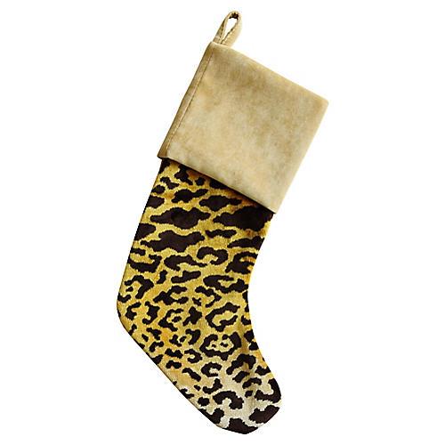 Scalamandré Leopardo Christmas Stocking