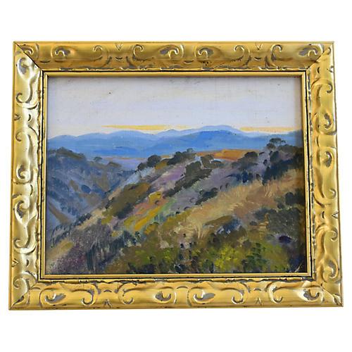 George Barker, Landscape Oil Painting