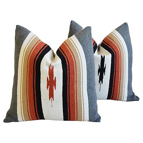 Southwestern Blanket Pillows, Pair