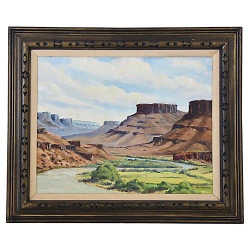 Jay F. Hennerer, Colorado Mesa Painting