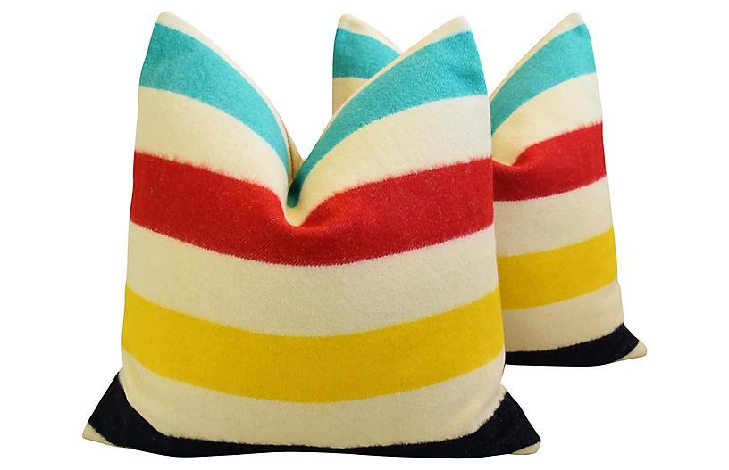 Hudson's Bay Camp Blanket Pillows - Set of 2