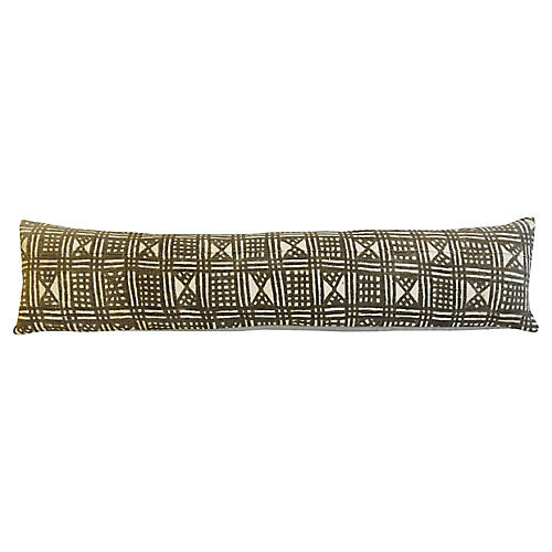 African Mud-Cloth Lumbar Bolster Pillow