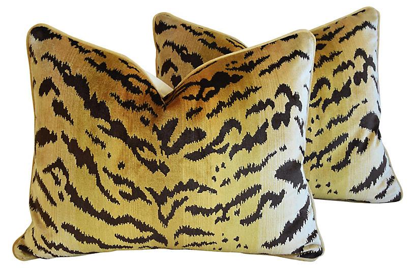 Scalamandre Le Tigre Tiger Pillows, Pr