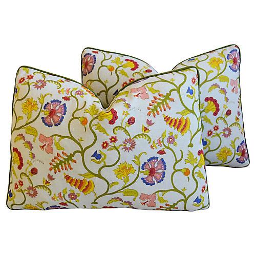 Raoul & Scalamandré Velvet Pillows, Pair