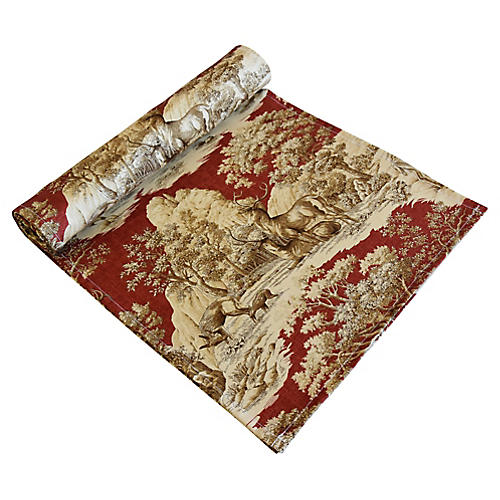 Woodland Nature Deer Toile Table Runner