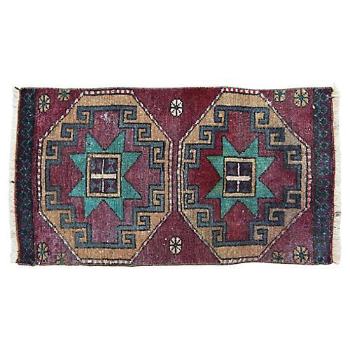 """Handmade Turkish Rug, 1'6"""" x 2'9"""""""