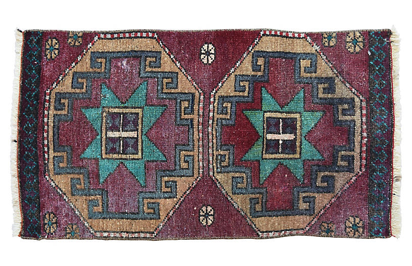 Handmade Turkish Rug, 1'6