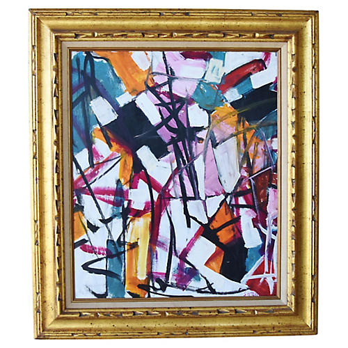 Juan Guzman, Colorful Abstract Painting
