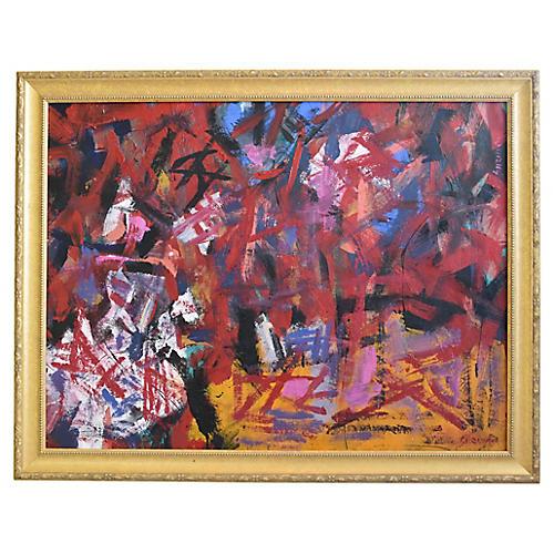 Juan Guzman Colorful Abstract Painting