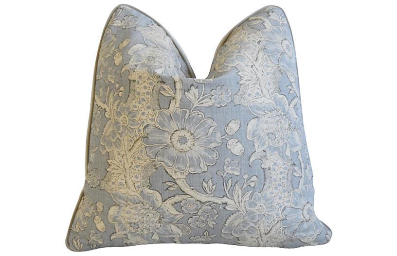 Hodsoll Camellia & Acorn Linen Pillow