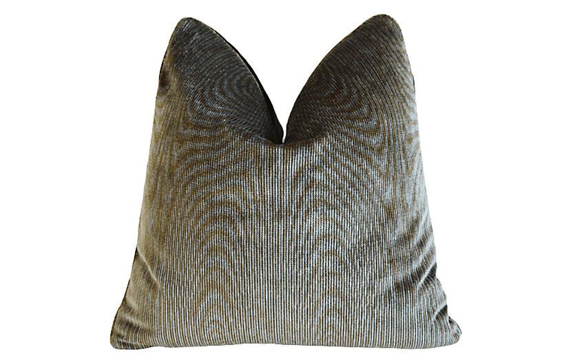 Schumacher Ruhlmann Silk Velvet Pillow