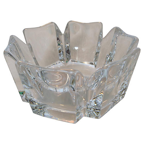 Orrefors Crystal Accent Bowl
