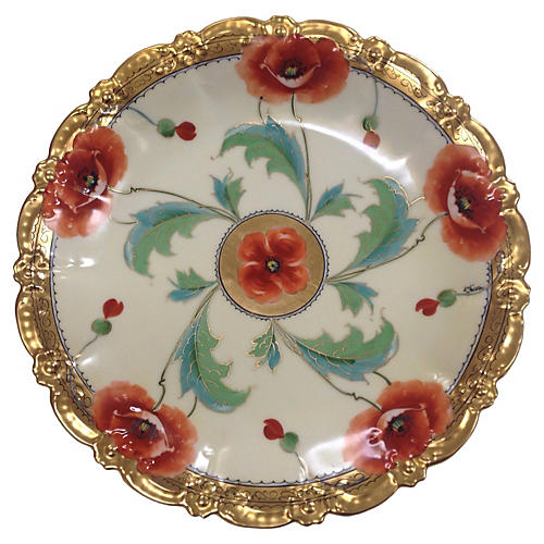 Poppies Charger by Stouffer Studios