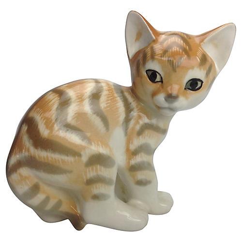 Russian Tiger Cat Figure