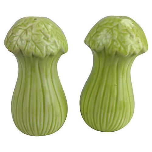 Celery Salt & Pepper Shakers