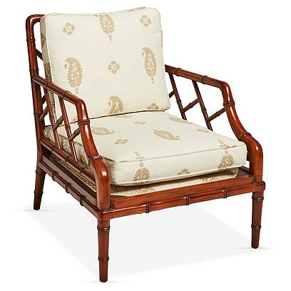 Faux Bamboo Lounge Chair