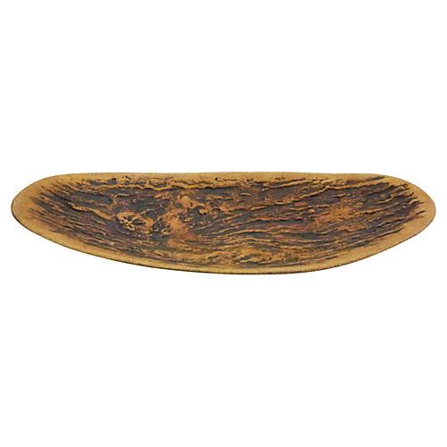 Woodgrain Ceramic Dish