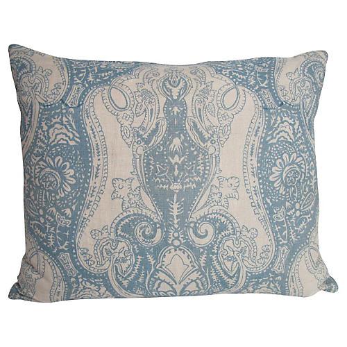 English Printed Linen Pillow