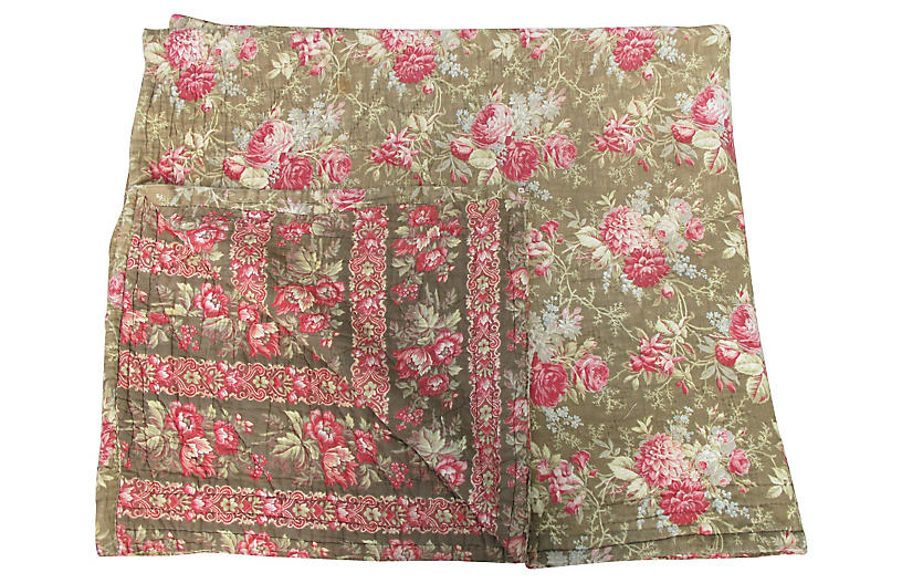 19th-C. French Quilt
