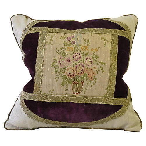 Antique French Brocade Pillow