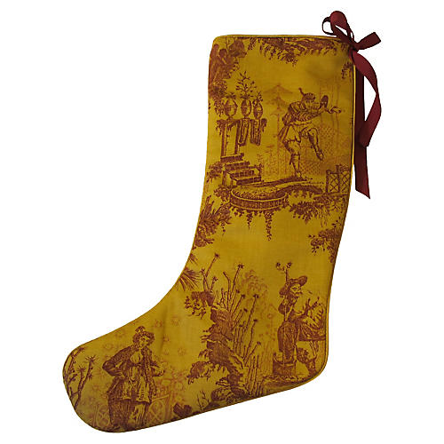 Chinoiserie Holiday Stocking