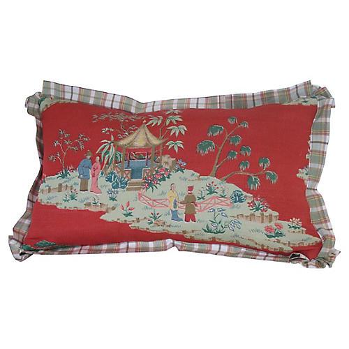 Chinoiserie Lumbar Pillow