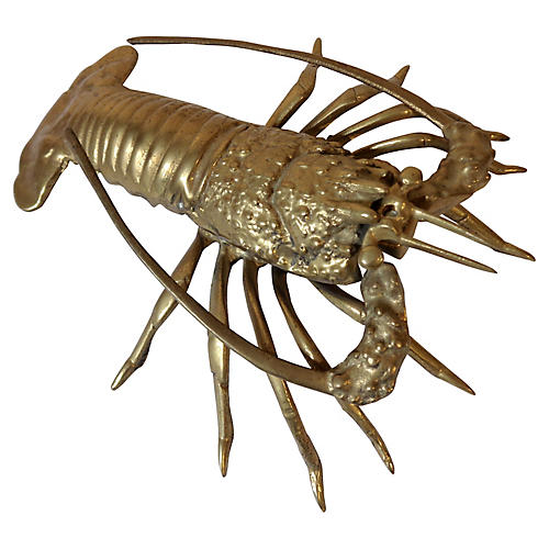Brass Lobster Figurine