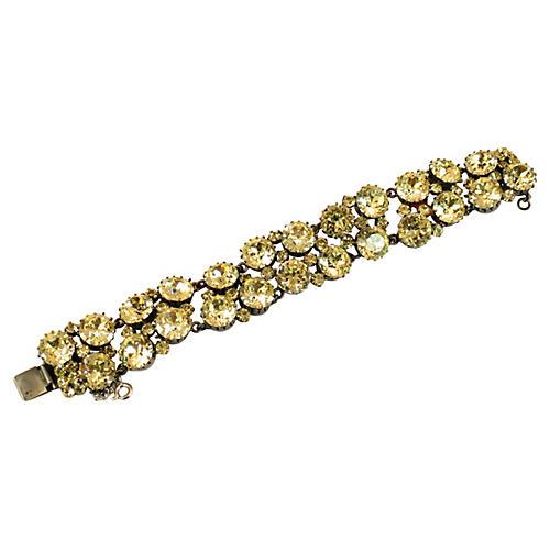 1930s Austrian Canary Crystal Bracelet