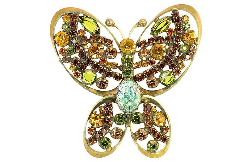 1950s Regency Butterfly Brooch