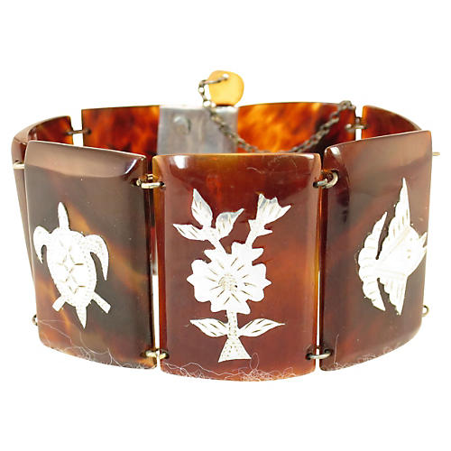 South Pacific Inlaid Shell Bracelet