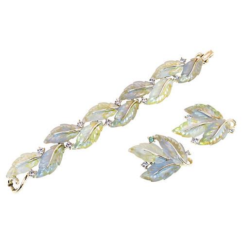 Lisner Variegated Leaf Bracelet Suite