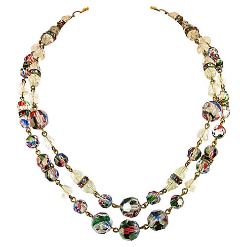 1960s Freirich Iris Crystal Necklace