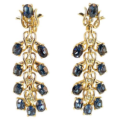 Kramer Sapphire Crystal Drop Earrings