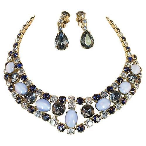 1960s Juliana Sapphire Necklace Set