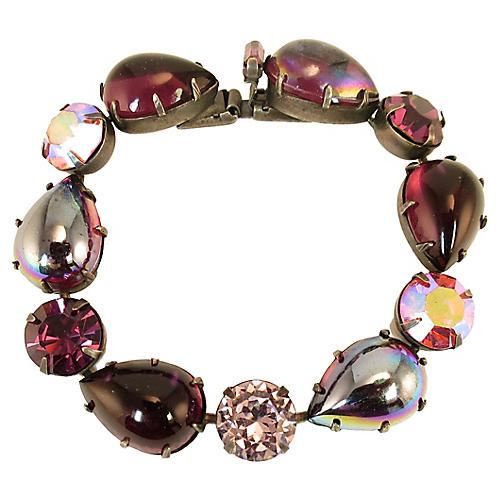 Regency Amethyst Teardrop Bracelet 1950s
