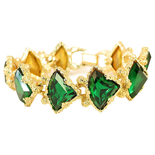 1950s DeNicola Emerald Bracelet