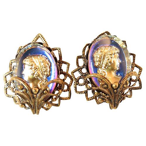 1930s Germany Intaglio Earrings