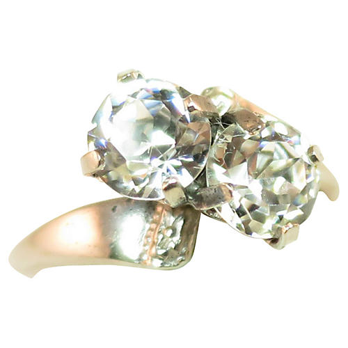 1950s M-H Sterling Crystal Ring