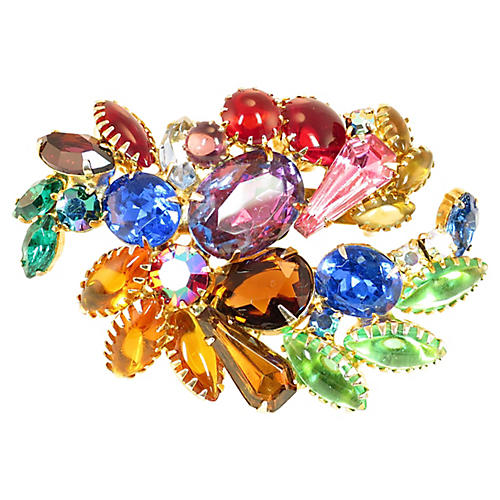 1960s Juliana Multicolor Brooch