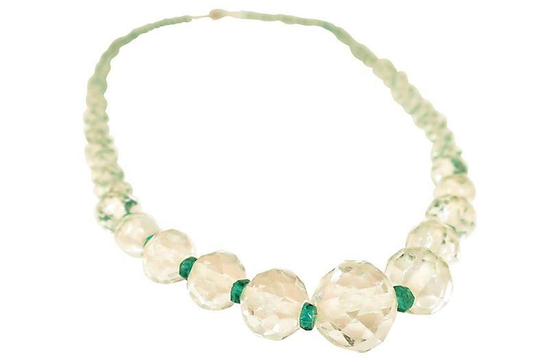 Edwardian Czech Long Crystal Necklace
