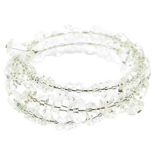 1950s Cut-Crystal Memory Wrap Bracelet