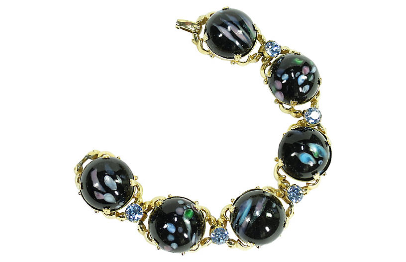 1950s Millefiori Art Glass Bracelet