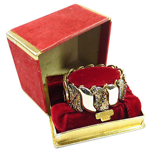 1920s B&N Gilded Expansion Bracelet