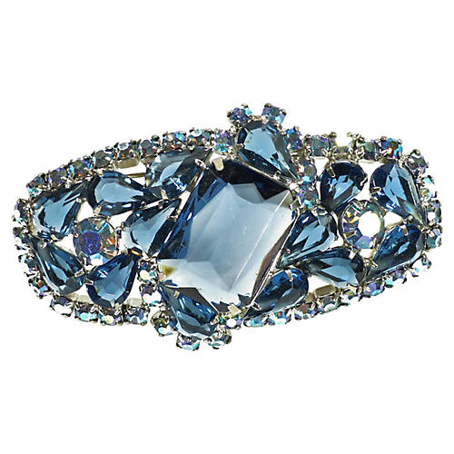 1960s Sapphire Crystal Brooch